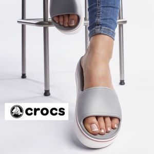 NWT CROCS Women's Platform Slide Sandals Shoes